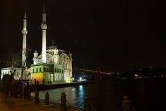伊斯坦布尔清真寺ortakoy火鸡 库存图片