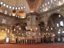 伊斯坦布尔清真寺suleymaniye火鸡 库存图片
