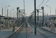 伊斯坦布尔电车 库存照片