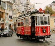 伊斯坦布尔电车 图库摄影