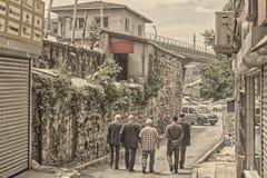 伊斯坦布尔的人们 图库摄影