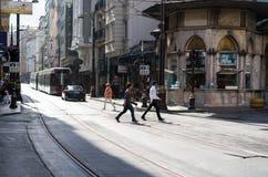 伊斯坦布尔老街市 库存图片