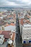 伊斯坦布尔视图 Galata塔 免版税库存照片