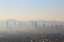 伊斯坦布尔都市风景 图库摄影