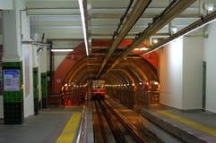 伊斯坦布尔隧道火车 免版税库存图片