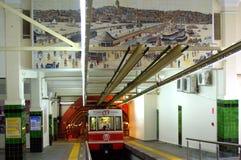 伊斯坦布尔隧道火车 免版税库存照片