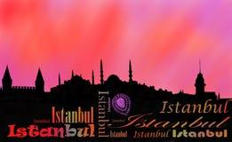 伊斯坦布尔首都日落 免版税图库摄影