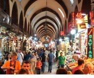 伊斯坦布尔香料义卖市场 库存图片