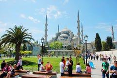 伊斯坦布尔,土耳其。苏丹阿哈迈德清真寺 免版税库存照片
