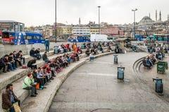 伊斯坦布尔,土耳其人们和街道  免版税库存照片