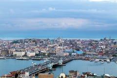 伊斯坦布尔,土耳其全景  库存图片