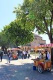 伊斯坦布尔,土耳其玉米卖主、食物和街道  库存照片