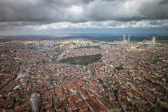 伊斯坦布尔,土耳其,城市的鸟瞰图 免版税库存图片