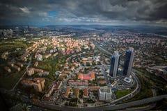 伊斯坦布尔,土耳其,城市的鸟瞰图 免版税库存照片
