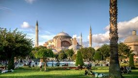 伊斯坦布尔,土耳其- 2013年3月4日, :圣索非亚大教堂Ayasofya,伊斯坦布尔联合国科教文组织世界遗产名录List, 1985年, T的历史的中心看法  图库摄影