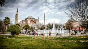 伊斯坦布尔,土耳其- 2013年3月4日, :看法圣索非亚大教堂(Ayasofya) 图库摄影