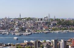 伊斯坦布尔,土耳其- 2015年5月11日:伊斯坦布尔看法照片  库存照片