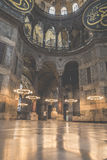 伊斯坦布尔,土耳其- 2015年12月13日:圣索非亚大教堂 库存图片
