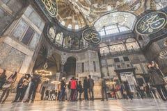 伊斯坦布尔,土耳其- 2015年12月13日:圣索非亚大教堂 免版税库存照片