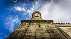 伊斯坦布尔,土耳其- 2013年2月9日:尖塔蓝色清真寺(Sultanahmet Cami)在Sultanahmet,伊斯坦布尔,土耳其 免版税库存图片
