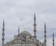 伊斯坦布尔,土耳其- 2015年12月13日:蓝色清真寺 图库摄影