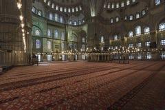 伊斯坦布尔,土耳其- 2015年12月13日:蓝色清真寺 免版税库存图片