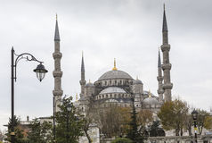伊斯坦布尔,土耳其- 2015年12月13日:蓝色清真寺 库存图片