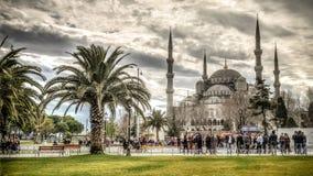 伊斯坦布尔,土耳其- 2013年2月9日:蓝色清真寺(Sultanahmet Cami)在Sultanahmet,伊斯坦布尔,土耳其 库存照片