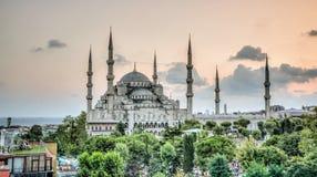 伊斯坦布尔,土耳其- 2013年2月9日:蓝色清真寺Sultanahmet Cami在Sultanahmet,伊斯坦布尔,土耳其 免版税库存图片