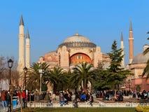 伊斯坦布尔,土耳其- 1月23 :2015年1月23日的圣索非亚大教堂在伊斯坦布尔,土耳其 库存照片
