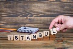 伊斯坦布尔,许多数百万人居住的一个城市在土耳其 免版税库存图片