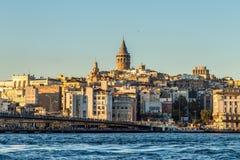伊斯坦布尔,金黄垫铁,加拉塔 免版税图库摄影