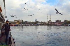 伊斯坦布尔, Kadikoy码头 协议Haydarpasa清真寺我 免版税库存照片