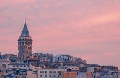 伊斯坦布尔 火鸡 Galata塔 库存照片