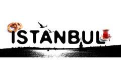 伊斯坦布尔黑色概念商标 库存照片
