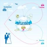 伊斯坦布尔 向量例证