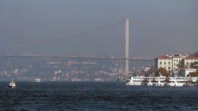 伊斯坦布尔/Bosphorus桥梁/galata桥梁/2015年12月 影视素材