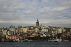 Galata塔,伊斯坦布尔 库存图片