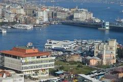 伊斯坦布尔bosphorous Sirkeci 库存图片