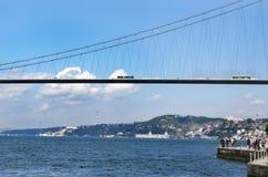 伊斯坦布尔Bosphorus, Bosphorus桥梁 库存照片