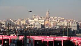 伊斯坦布尔city//galata塔/2015年12月 影视素材