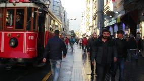 伊斯坦布尔istiklal街道,土耳其6月2016年, 股票录像