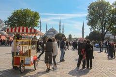 伊斯坦布尔kebab街道火鸡 库存图片