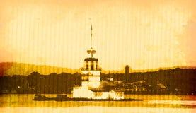 伊斯坦布尔kiz塔 库存例证
