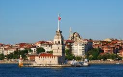 伊斯坦布尔kiz kulesi未婚塔 库存图片