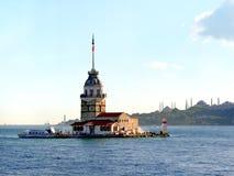 伊斯坦布尔leanders塔 库存照片
