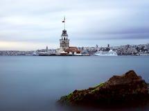 伊斯坦布尔leanders塔 免版税库存照片