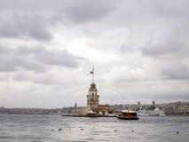 伊斯坦布尔leanders塔 库存图片