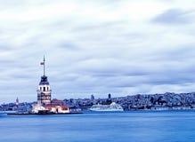 伊斯坦布尔leanders塔 免版税图库摄影