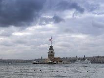 伊斯坦布尔leanders塔 图库摄影
